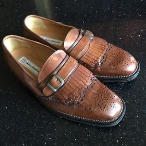 Sandro Moscoloni Mens 9.5 tan leather loafers